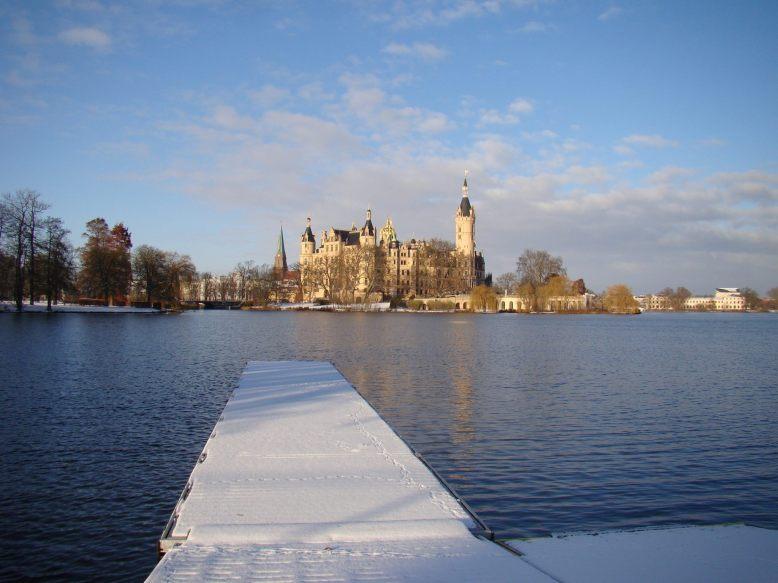 Das Schweriner Schloss im Winter
