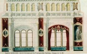 LAKD LHAS Ministerium für Finanzen Abt. Hochbau Mappe 14 Nr 35 Thronsaal Schwerin_Aufriss